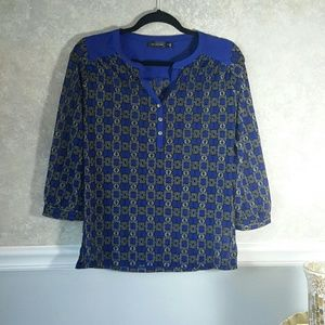 THE LIMITED | Cobalt Blue Printed Blouse